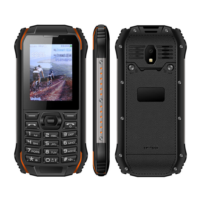 UNIWA S963 IP68 Waterproof Dual SIM Card 2.0MP Camera 1700mAh Big Battery World Smallest 3G Phone