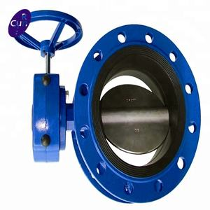 factory double flange eccentric butterfly valve with price