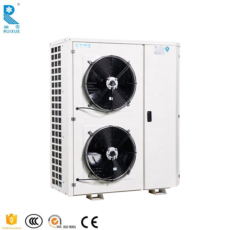 Box type low air cooled refrigeration condensing unit cold room