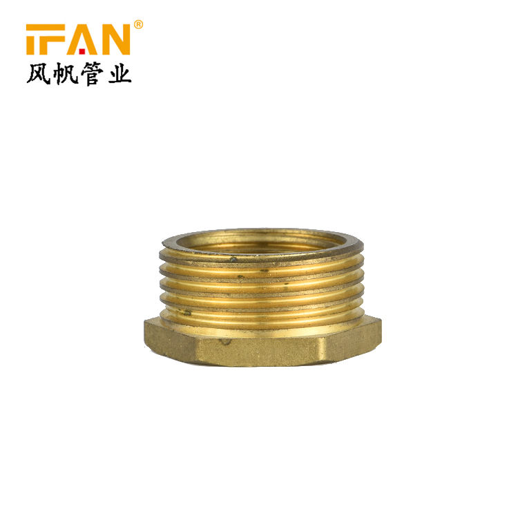 1/2''*3/8'' 3/4''*1/2'' Male Female Thread Brass hose fitting pipe fitting Reducing Bush brass nipple fittings brass bushing