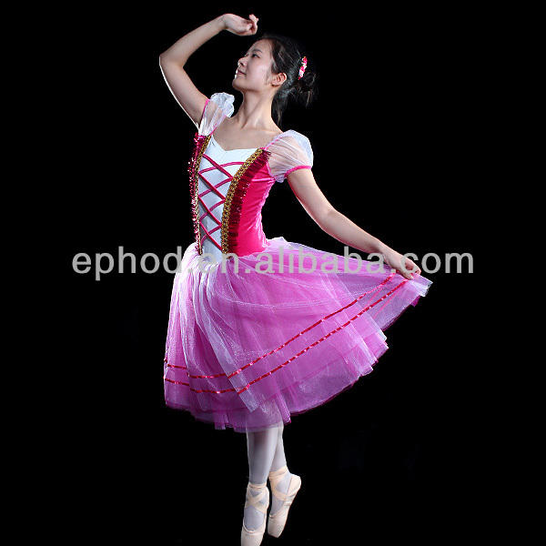 Girls romantic ballet tutu/stage dance costumes/show girl dance costume EPBL-023