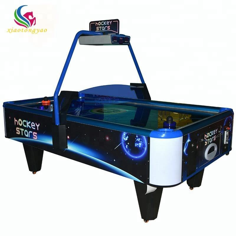 2018 Best selling vierkante cube muntautomaat air hockey game machine air hockey tafel