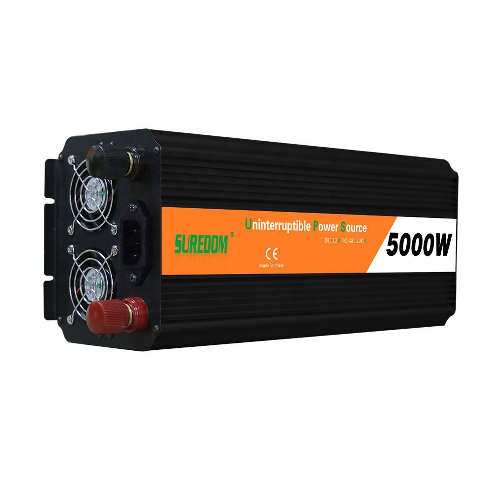 5000w/10kw ups inverter with charger dc 12v 24v 48v converter to ac 110v 220v/solar power inverter