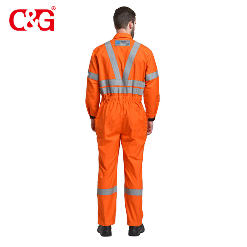 Attractive Option orange fireproof thin fr overalls