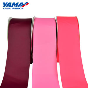 Yama factory stocked 75 mm red grosgrain silk woven ribbon