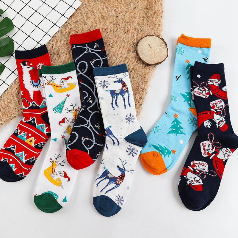 Women Girl Japanese Styles Tube Loose Dot Pattern Crew Soft Socks LC
