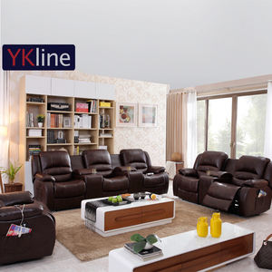 PU Leather Recliner Sofa with Storage Console, Recliner Motion Sofa Set,Recliner sofa Electric