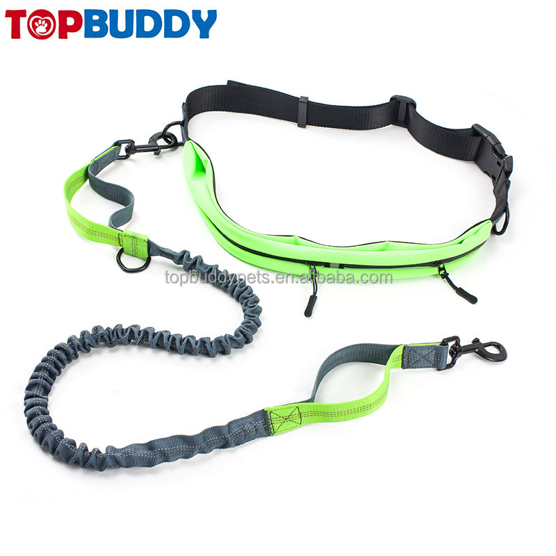 Running leash waterproof Waist belt Hands Free Dog Lead