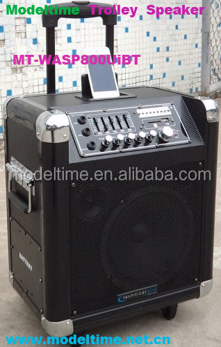 populaire outdoor trolley macht speaker op luidspreker met usb/sd