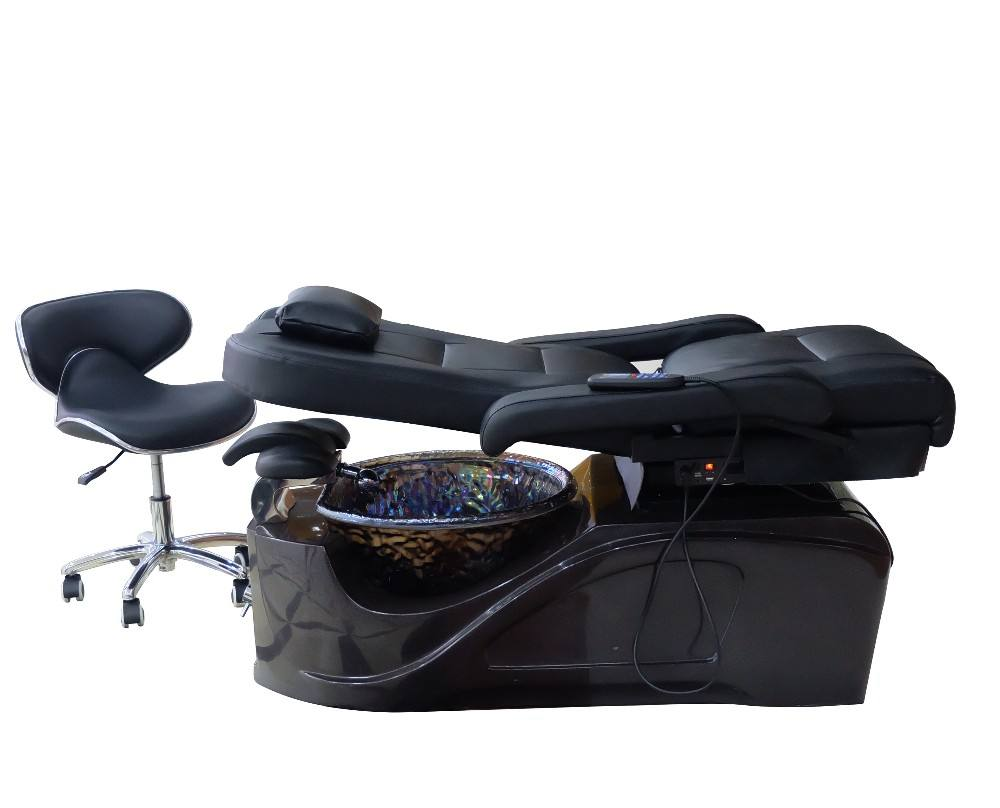 lie flat to 175 degrees and turn 360 degrees rotation pedicure spa chair