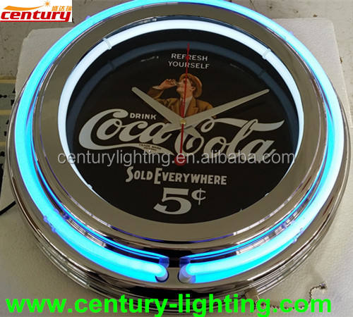hot selling 15inch neon light clock