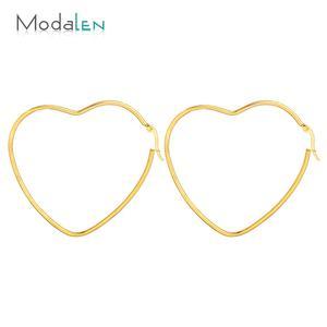 Modalen Fashion Jewelry Stainless Steel Metal Jewelry Lot Heart Gold Earring