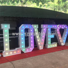 Life size 6ft wedding decor letter LOVE lights, low voltage and waterproof multicolored marquee letter LOVE for events & party