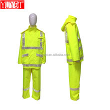 custom service reflective raincoat with hooded nylon or pvc raincoat jacket waterproof for women and men rain wear