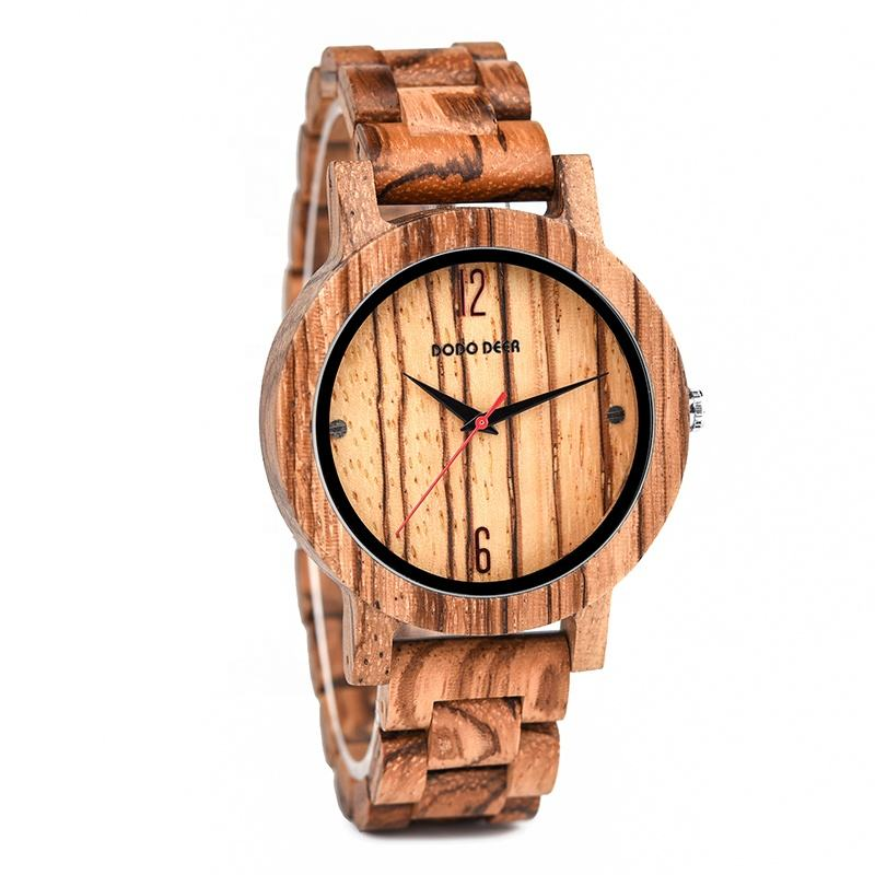 2020 DODO DEER Hot Sale Natural Wood Watch OEM Chronograph for Men Watches Gift with Logo Customization