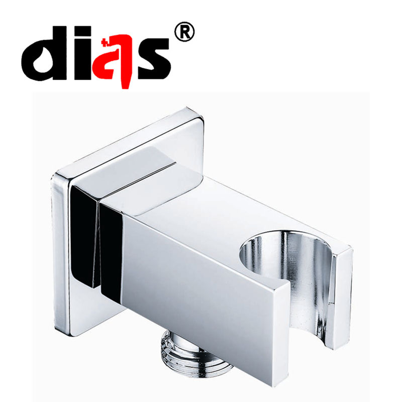 Square Titik Air Kuningan Chrome Menyelesaikan Kamar Mandi Shower Siku Bracket Shower Siku Pemegang Braket Dinding dengan Air Outlet