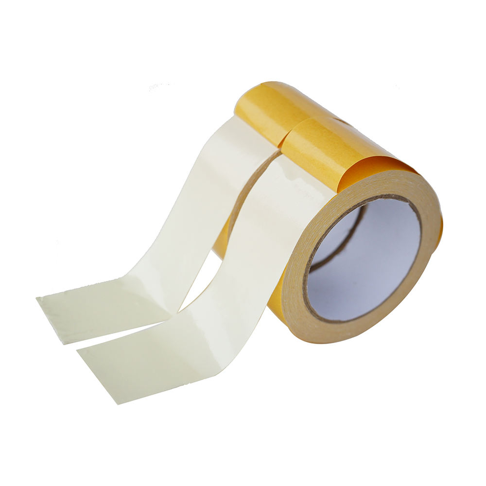 White double sided fabric adhesive tape for carpet fixing
