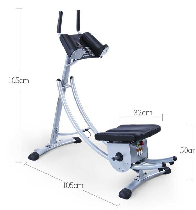 180 Degree Rotatable Fitness Equipment Waist Crunch Machine Ab Coaster With LCD Pedometer Display