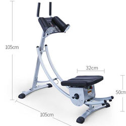 180 Degree Rotatable Fitness Equipment Waist Crunch Machine
