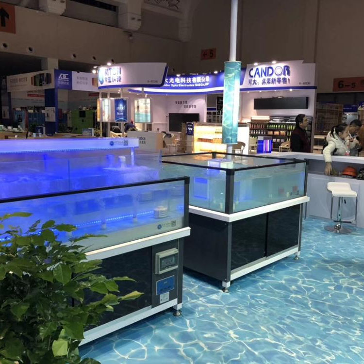 SMCN customized Ecological ECO 2 layer supermarket or restaurant chiller live lobster king crab fish seafood tank