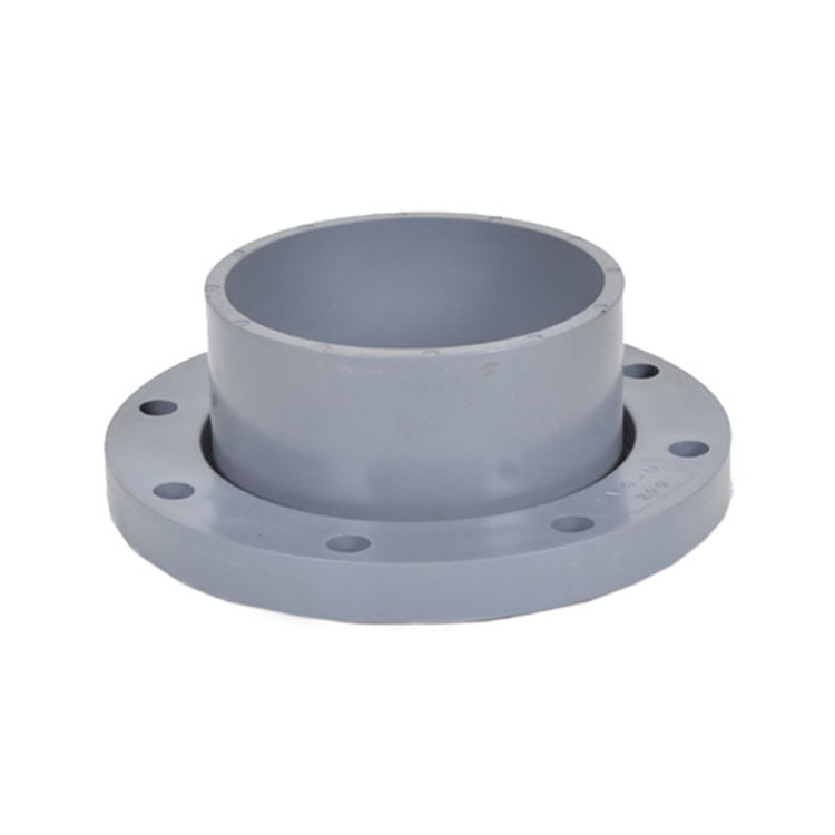 UPVC PVC Plastic Pipe Fitting Copper Threaded Screw Blank Puddle Flange Adapter With Din Standard
