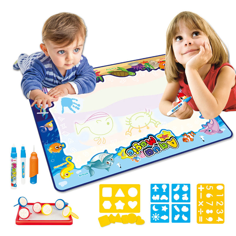 Zhorya 100*80cm water painting doodle drawing pen aqua water magic mat