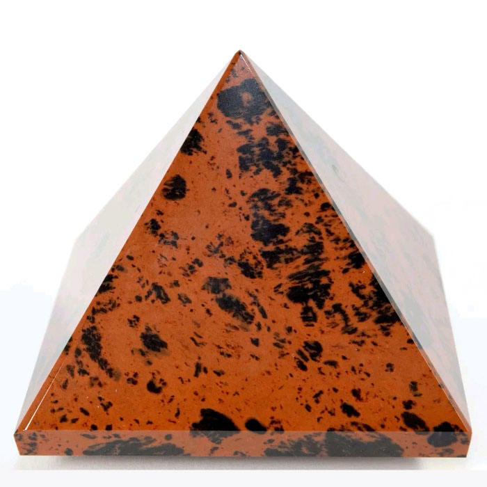 Top Grade Healing Red Obsidian Pyramid Hand Polished Crystal Pyramid For Decorative