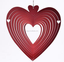 classical laser cut 3d Wind spinner- Heart