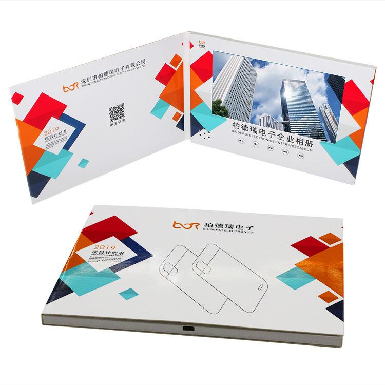 lcd tft de cubierta dura autodyne video con cámara de vídeo folleto tarjeta regalo digital de vídeo tarjeta de felicitación