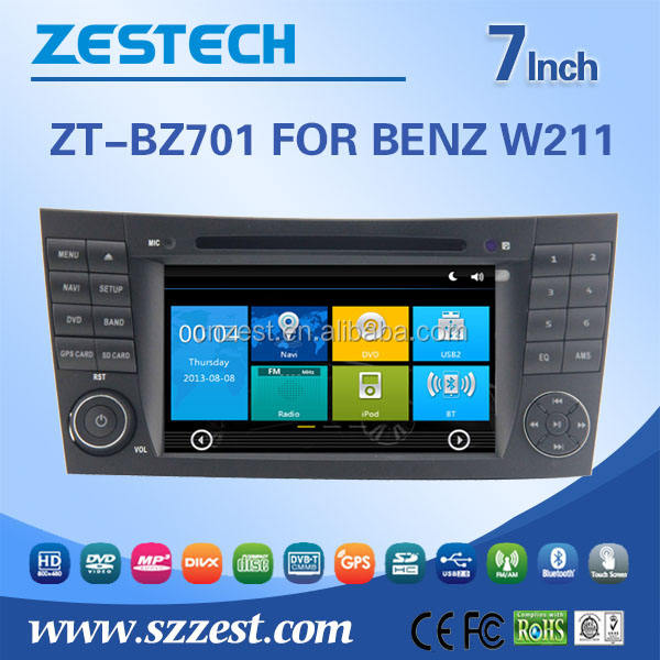 Win Ce 6.0 OS car radio for Mercedes Benz E-class W211 car dvd player car gps player car radio with GPS DVD USB/SD AM/FM