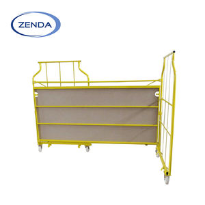 Folding trolleys for market rolling cage trolley cart roll container