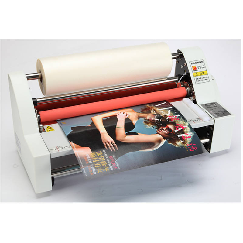 SRL-D35 Factory Direct A3 A4 Size Cold Roll Laminator Roll Laminating Machine