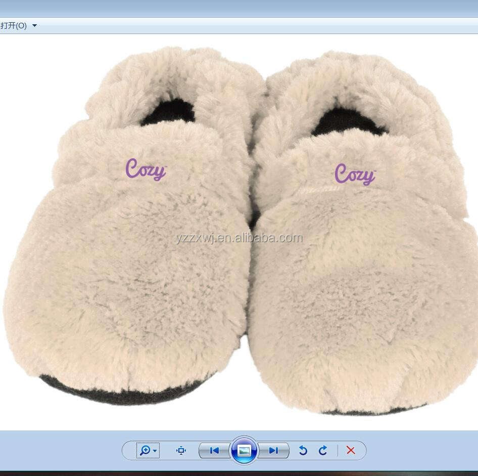 microwave slippers /microwave heated indoor slippers buckwheat and lavender inner microwave slipper