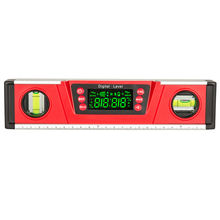 DL135 10 Inch LED display digital spirit level with magnetic and two bubbles angel gauge