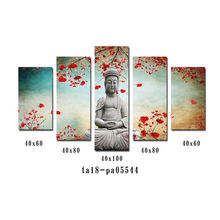 Custom image of the Buddha 5 panel canvas wall art