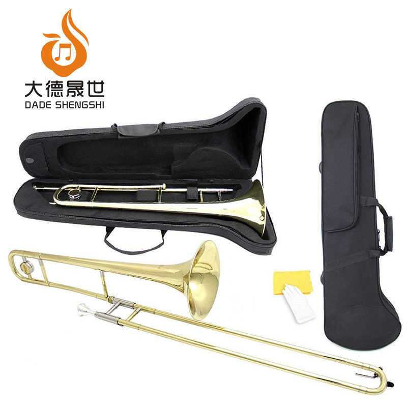 Brass Bb Professional Case Cleaning Kit Gold Tenor Slide Trombone
