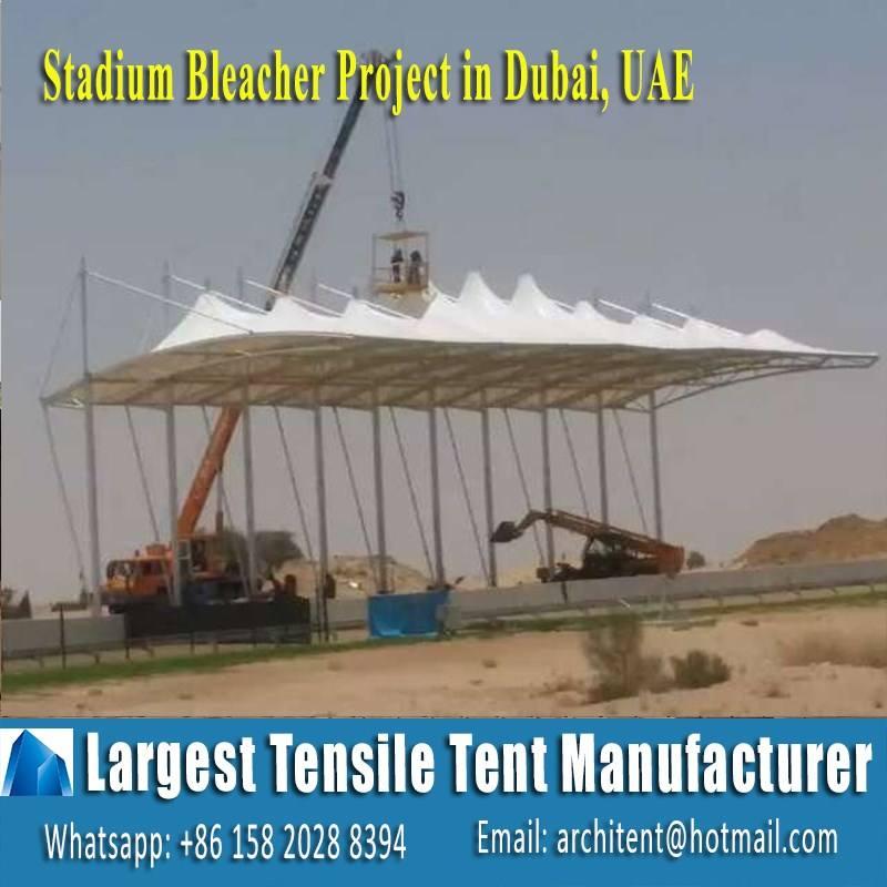 Arquitetura projeto de estrutura do estádio bleacher tenda de tecido à tração do aço em Dubai