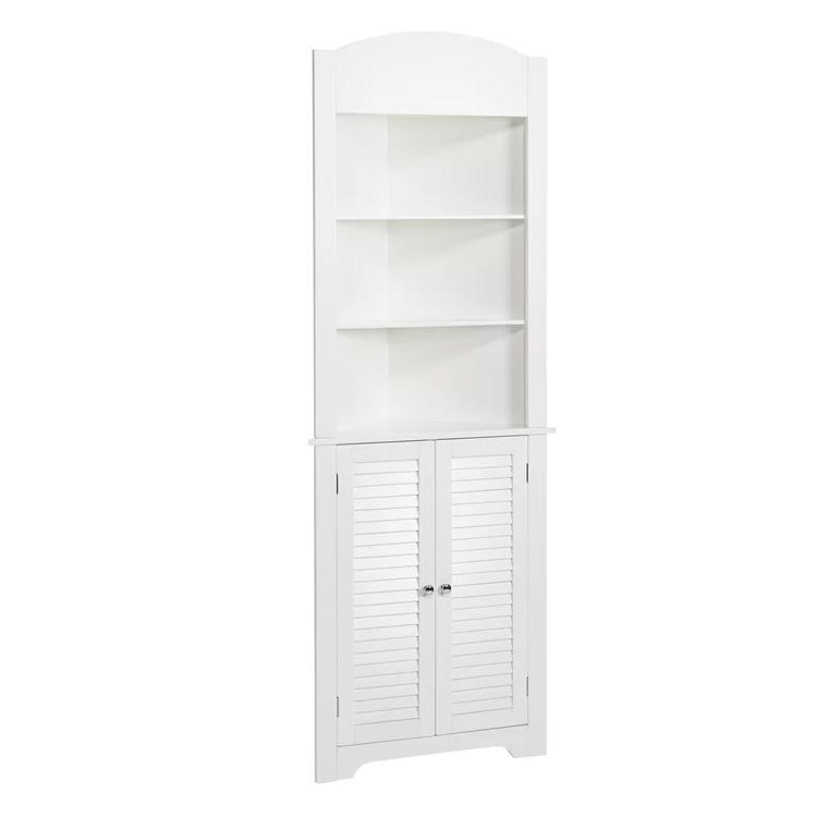 Cheap Price Bathroom Furniture Tall Bathroom Corner Cabinet with Storage