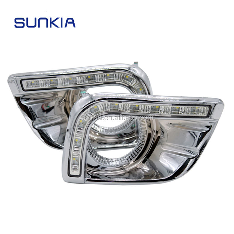 SUNKIA High Power 12v Car LED Daytime Running Light Specific for Toyota Prado FJ150 LC150 2010-2013 Land Cruiser 2700/4000