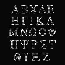 Mix Greek Alphabet Letters Rhinestone Heat Transfer Designs For Apparel