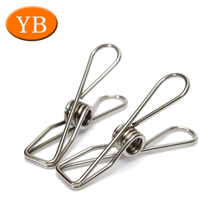 30PCS Stainless Steel Clothes Peg Laundry Windproof Clamp Fixed Hanging Clips