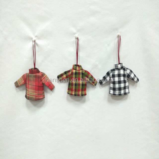 Christmas Tree Ornaments Small Christmas clothes hanging decorations Gift Tags, Holiday Party Decor can customize any color