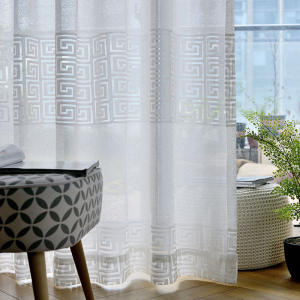 Fantaisie Jacquard Tissu Rideau Transparent, Amazon Top Seller 2019 Ensembles de Salon Rideau Rideau D'église #