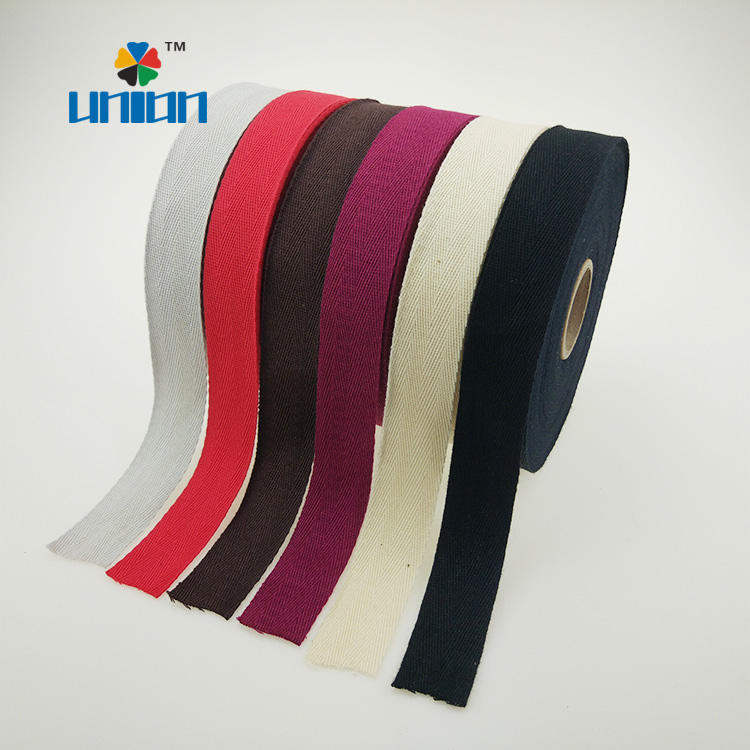 Eco friendly 1 inch 100% cotton webbing for bags & garment