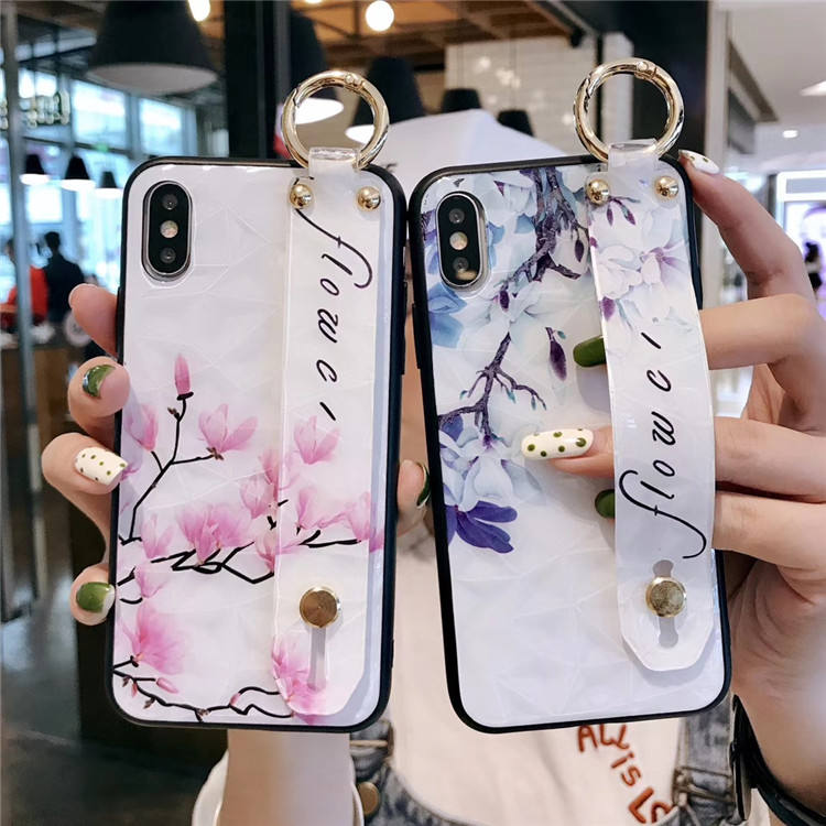 High quality mobile accessories 3D diamond flowers pattern phone case for iphone 6 6s 7 8 plus x xs xsmax xr cover