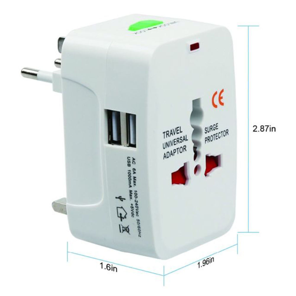 All in One Universal Internat ional Stecker <span class=keywords><strong>adapter</strong></span> 2 USB-Anschluss World Travel AC Ladegerät <span class=keywords><strong>Adapter</strong></span> mit AU US UK EU Konverter Stecker