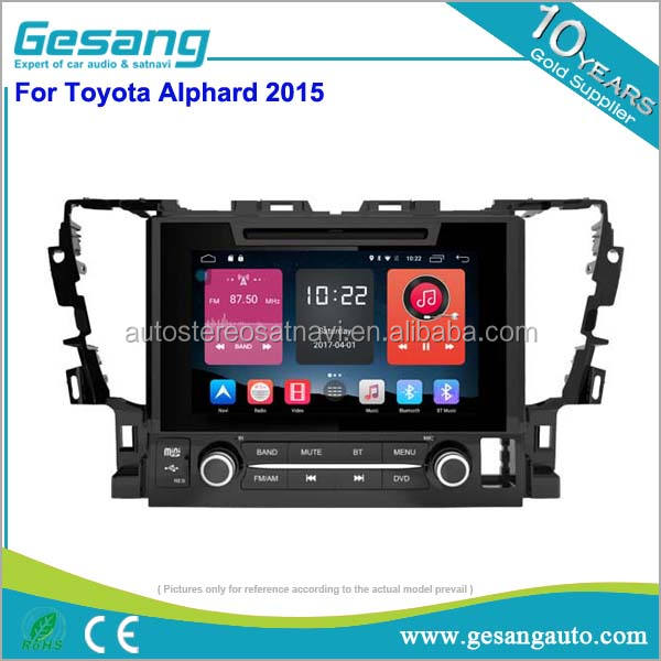 Doppel-din auto headunit android 6.0 9 zoll hd touchscreen auto <span class=keywords><strong>dvd</strong></span> mit 4g verbindung für Toyota Alphard 2015