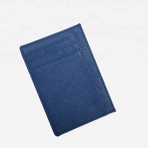High Quality Split Saffiano Leather Card Wallet Men Card Holder