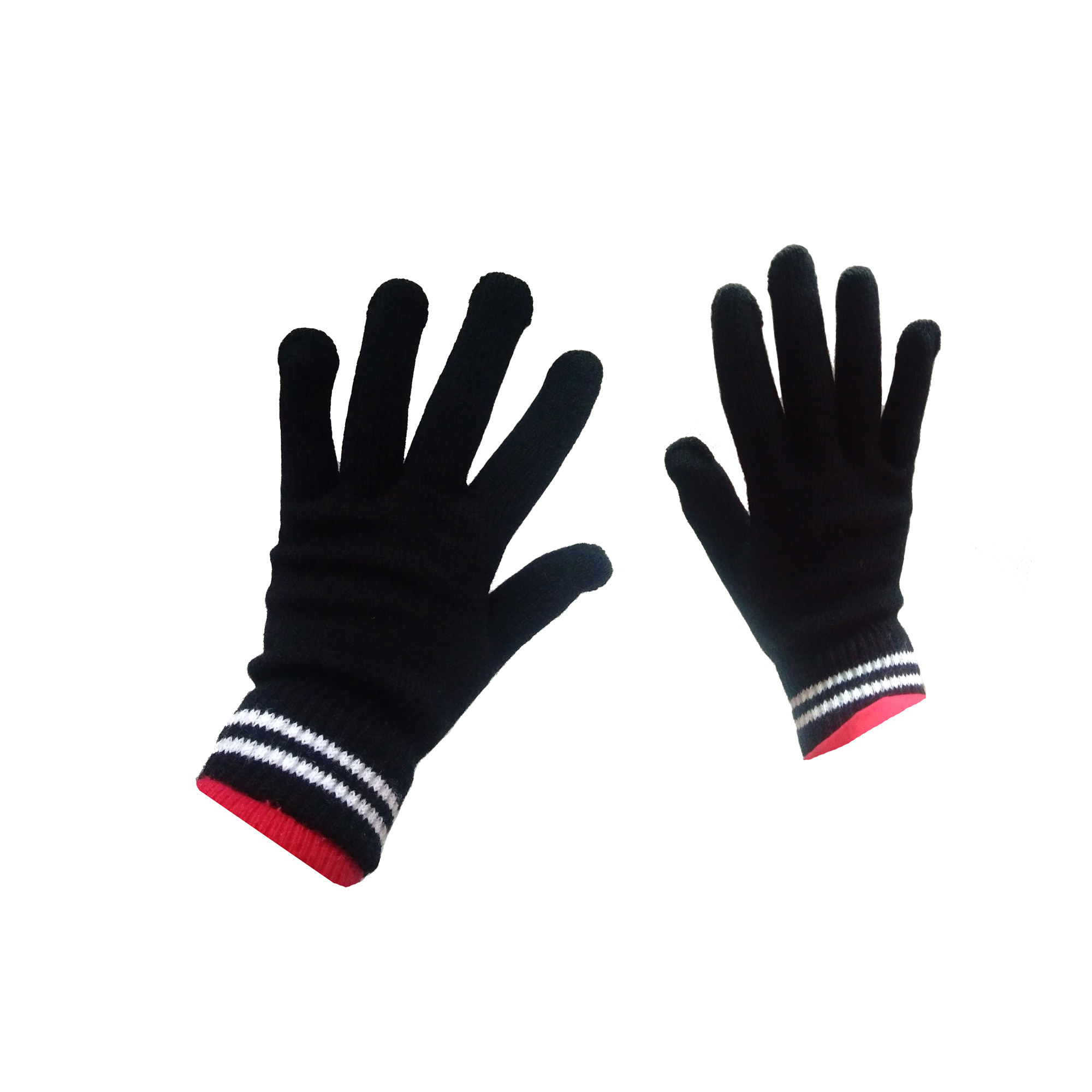 promotional five-finger acrylic mitten gloves