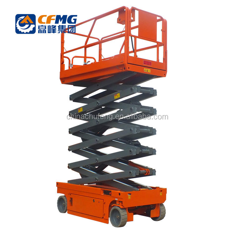 Factory supply mini small manual battery power electric Push Around Scissor Lift Type Pulling aerial work platform for Home Used